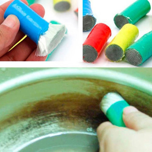 2PCS Magic Stainless Steel Rod Magic Stick Metal Rust Remover Cleaning Brushes