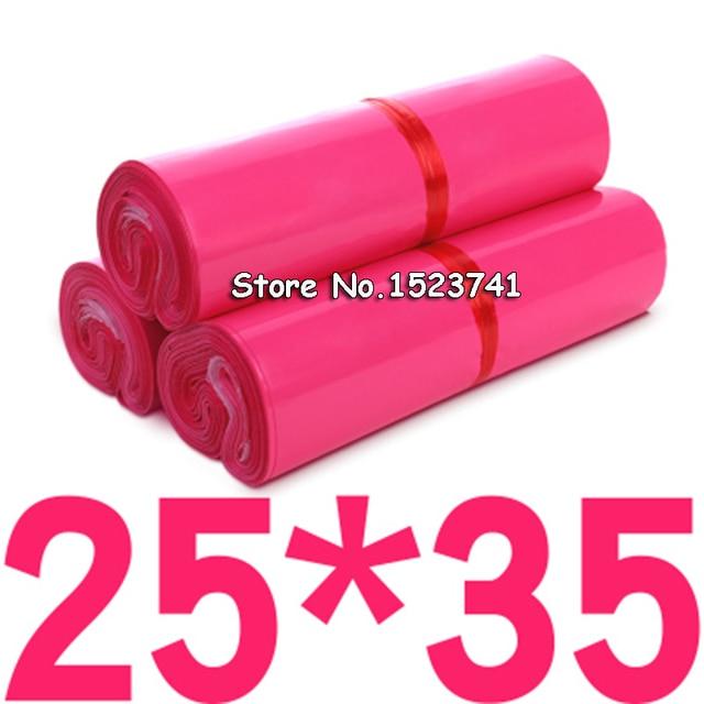 100 шт., конверт розового цвета/Сумка для почтовых отправлений/стандартная Экспресс сумка 17*30 см/25*35 см