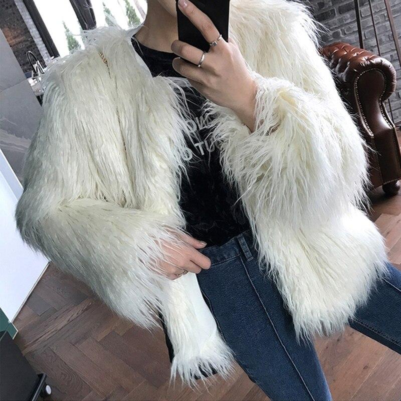 Winter Hot-selling Faux Fur Jacket Women Fluffy Sweet Fur Coats