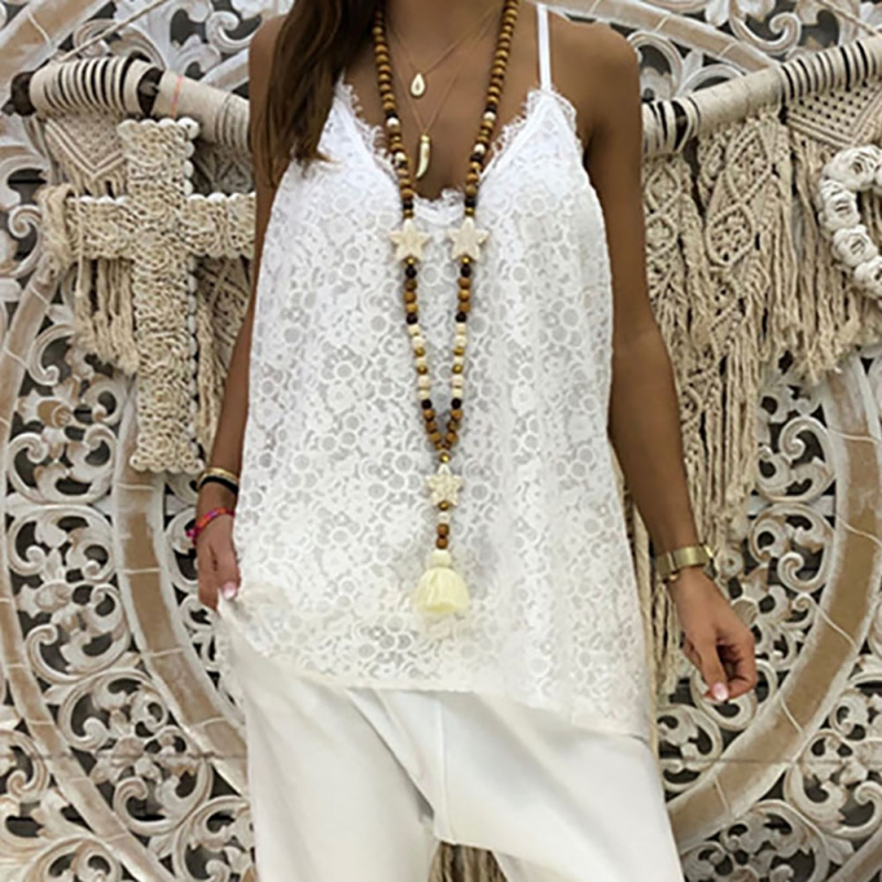 Lace   Top   Camis Sexy   Tank     Top   Women Camisole Ladies Fashion Solid Colour V-Neck Sleeveless Shirt Backless Summer Shirt Female