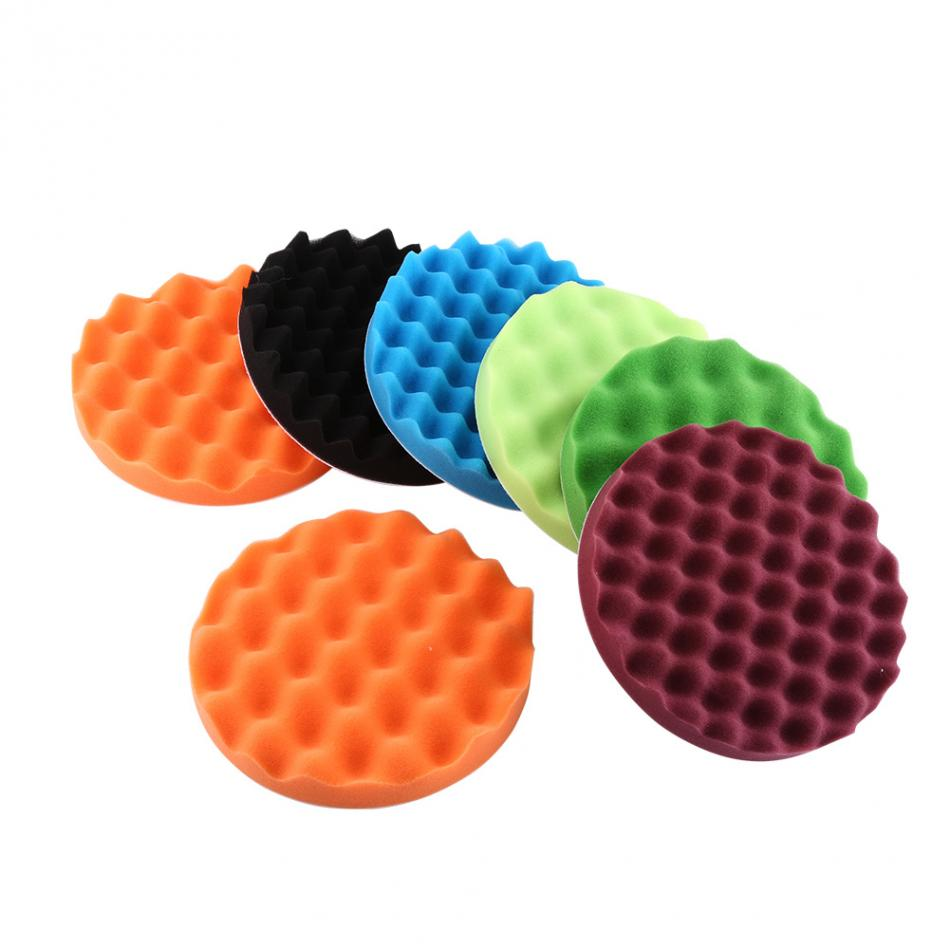 "7Pcs 8"" Car Polishing Pads Sponge Polishing Buffing Waxing"