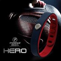 Power Ionics Hero Series Superman IDEA BAND 3000 Ions Sports Waterproof Titanium Healthy Bracelet Wristband Balance