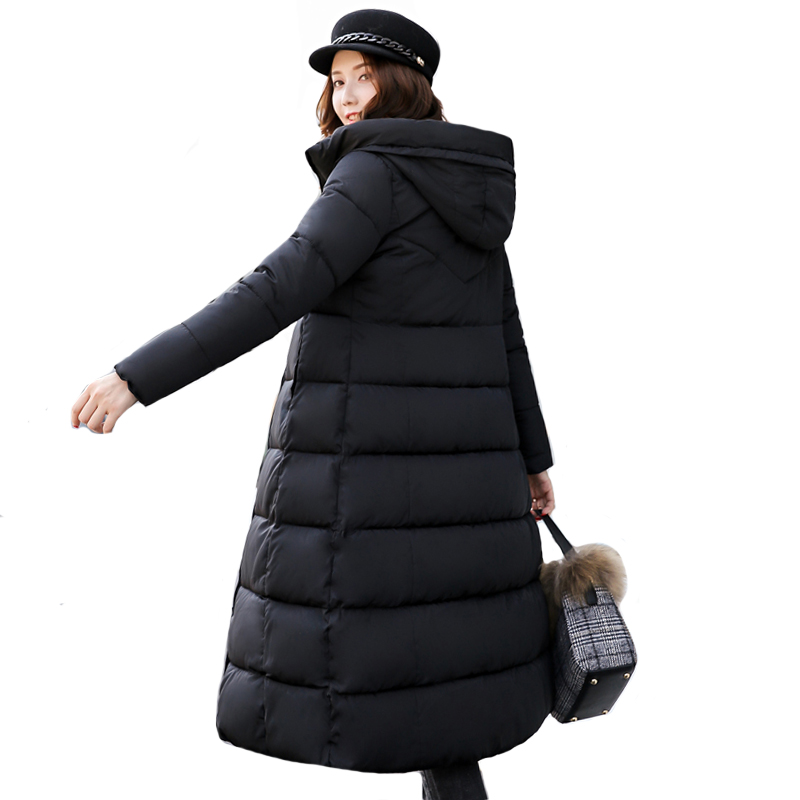 High Quality Women Winter Jacket Stand Collar Hooded Long Slim Womens Winter Jackets Warm Outwear For Females Coat Coats   Parka