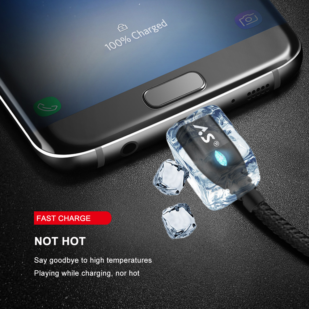 A.S Magnetic Cable Micro USB Type C Super Fast Charging Phone Microusb Type-C Magnet Charger usb c For iphone huawei xiaomi Data 5