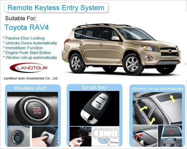 Wholesale Remote Keyless Entry for Toyota RAV4,Free Shipping Cheap Toyota RAV4 Smart Key System,Car Remote Starters,PKE System
