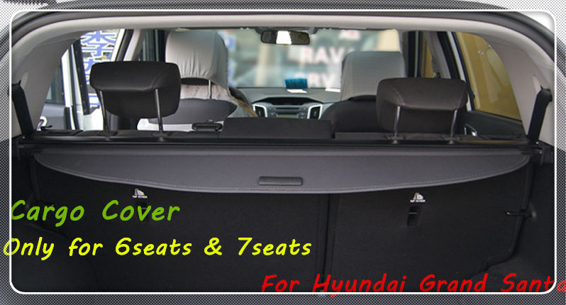Car cover Rear Luggage Cargo Cover For Hyundai Grand Santa Fe 2013 2014 2015 Parcel Shelf Car styling Accessories 1 set black rear trunk cargo privacy cover shield parcel shelf cargo cover for mazda cx 5 2nd gen 2017 2018 car styling