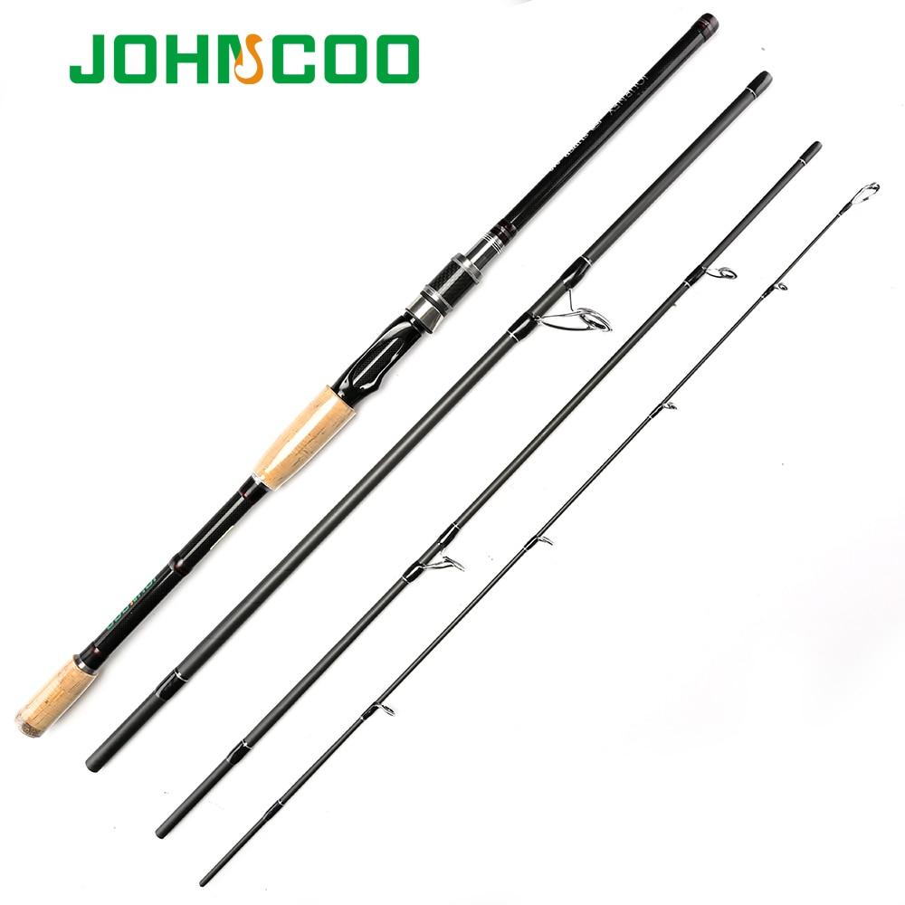 Johncoo Travel Rod Baitcasting Fishing Rod 2 1m 2 4m 2 7m