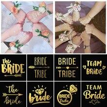 5 pçs/lote Decoração de Casamento Da Noiva Da Equipe Para Ser Etiqueta Do Tatuagem de Noiva Bachelorette Partido Hen Noite Diy Decoração Tatuagem Temporária