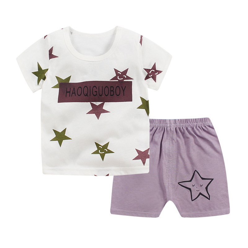 2019 new baby boy clothes quality cotton kids bodysuit summer short sleeve children clothing sets cartoon girl clothes body suit in Clothing Sets from Mother Kids