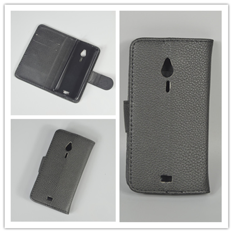 for <font><b>Nokia</b></font> <font><b>230</b></font> / <font><b>230</b></font> Dual SIM Lichi Texture Leather Case Pouch Flip case with 2 Card Holder and pouch slot image