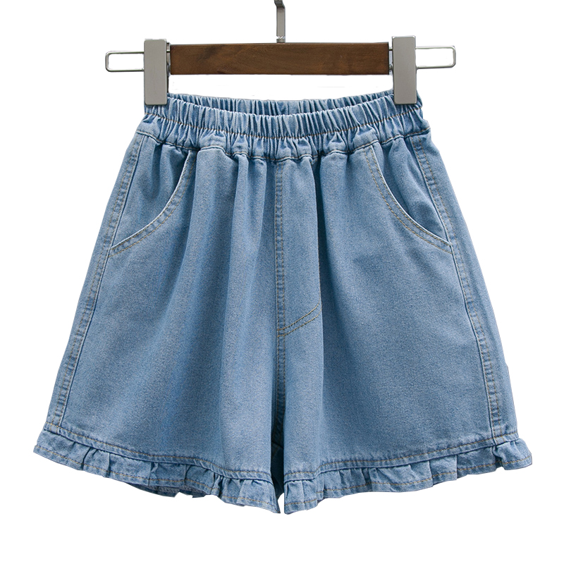 S/M/L/2XL/3XL/4XL/5XL Basic Denim Shorts For Women Summer Jeans 2019 Wide Leg Shorts Female Casual Loose Plus Size Shorts Blue