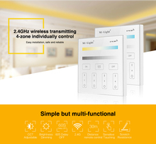 Milight T2 AC220V 4-Zone CCT Adjust Smart Panel Remote Controller color temperature and brightness for led strip light lamp bulb