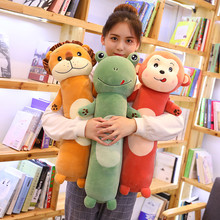 1pc 50-110cm Long Animal Pillow Plush Toy Soft Cushion Stuffed Animal Doll Sleep Sofa Bedroom Decor Kawaii Lovely Gifts For Kids