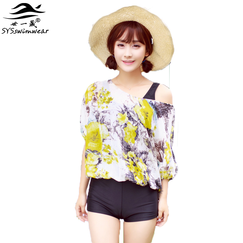 High quality New Summer beach Sexy girl Floral One piece swimwear 4 colors bathing suit Concise Designs with sleeve wimsuit high quality new summer beach sexy girl solid backless big bow one piece swimwear bathing suit concise design swimsuit