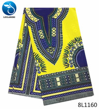 LIULANZHI yellow wax fabric print tissu africain 6yards/piece new products of 2018 for dress 8L1155-8L1161