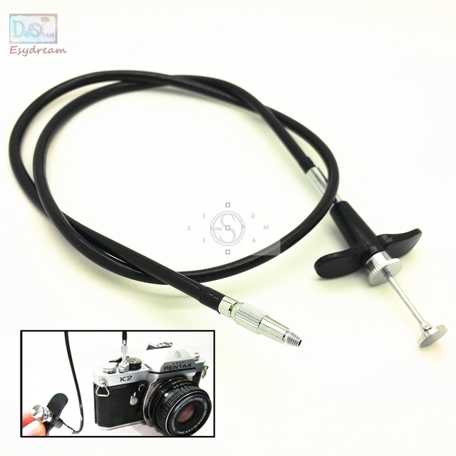 28'' 70cm Mechanical Locking Camera Shutter Release Remote Control Cable Cord for Fuji Fujifilm Pentax Canon Nikon Film Cameras