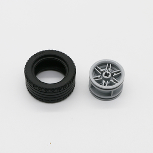 Image 4 - Building Blocks Technic Parts Gear Cross Axles pin Car train wheels Truck Accessories Set Connector Toy compatible Bricks 650PCS