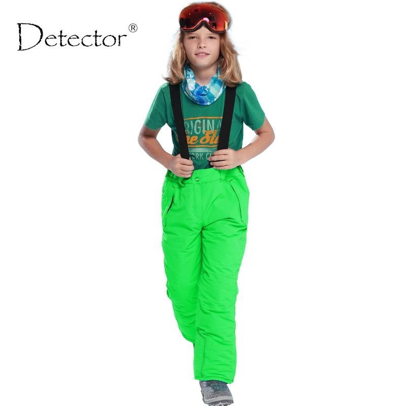 Detector Kids Winter Outdoor Water Resistant Windproof Breathable Snowboard Trousers Ski Pants Boys 6-16y Pantalones Waterproof