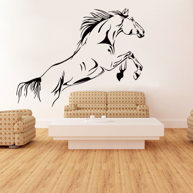 Horse Wall Sticker Running Horse Removable Vinyl Wall Art Stickers Living Room Decals Home Decorative Animal Wallpaper-in Wall Stickers from Home u0026 Garden ...  sc 1 st  AliExpress.com : horse wall art stickers - www.pureclipart.com