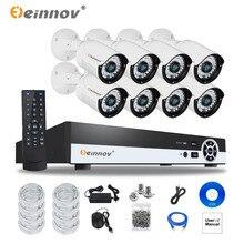 EINNOV 8CH NVR POE CCTV System Onvif P2P 1080P 2.0MP Ful HD waterproof bullet IR POE IP Camera CCTV Security Surveillance Kit