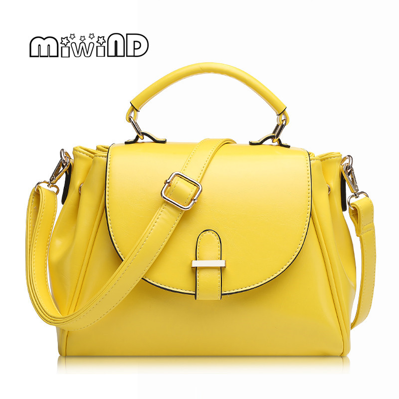 MIWIND Candy Color Women Messenger Bags Fashion Designer font b Handbags b font High Quality Leather