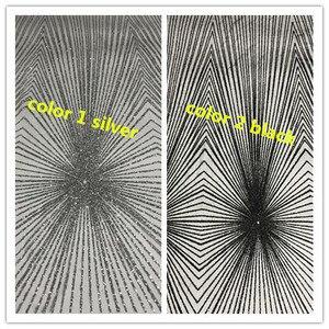 Image 5 - Único JIANXI.C 71106 pegado brillo neto tela de encaje tela con encaje de red francés con pegados brillo Decoración