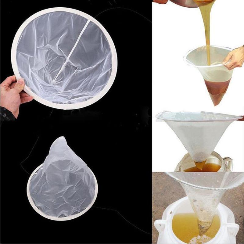 150 Mesh Nylon Sieve Mesh Honey Filter Pure Funnel Shape Strainer Net Screen Beekeeping Supplies Tool Impurity Filter Cloth