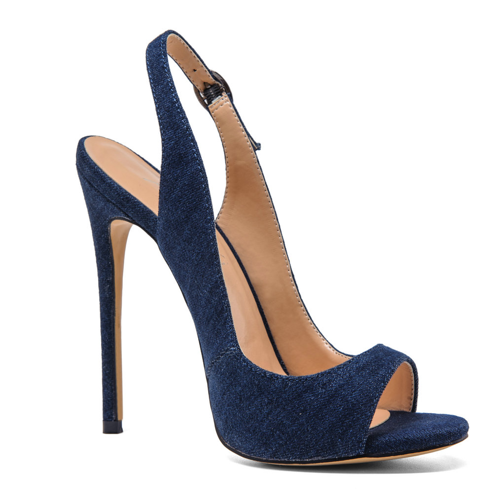 AIWEIYi - Strap alla caviglia donna , nero (Blue), 40