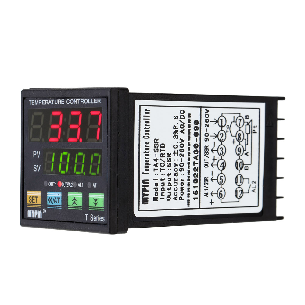 Digital LED PID Temperature Controller Thermometer Heat Cooling Control thermostat RNR 1 Alarm Relay Output TC/RTD thermostat цена