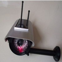 Solar Energy With Bliking LED IR Fake CCTV Camera Indoor For Home Security System Cameras