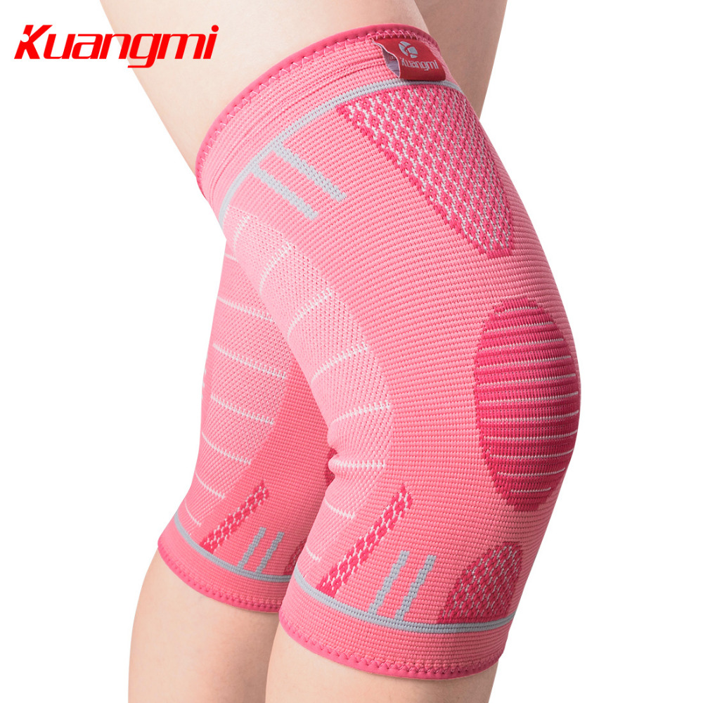 8dc1232c47 Kuangmi 1 PC Knee Support Sports Compression Anti slip Volleyball  Basketball Knee Brace Elastic Kneepad Sleeve Protection Gear-in Elbow & Knee  Pads from ...