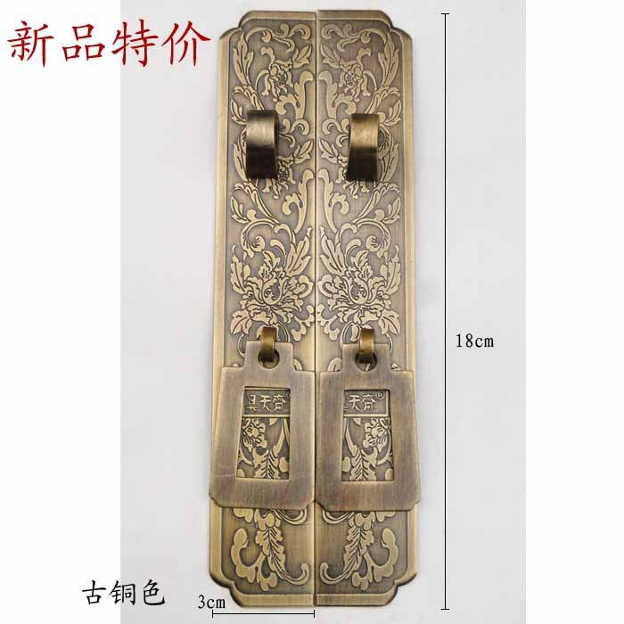 [Haotian vegetarian] antique furniture wardrobe handle / door handle / Copper Pull hands HTC-220 vintage rhinestone triangle pendant earrings