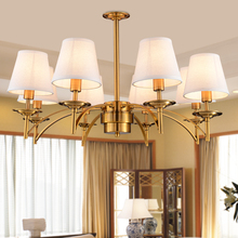 led e14 American Iron Brass Fabric LED Lamp.LED Light.Ceiling Lights.LED Ceiling Light.Ceiling Lamp For bedroom dinning room
