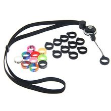 5sets / lot Necklace lanyard Detachable Rotate Silicone Ring Vape Band Ring Silicone Ring for RELX Zero Pod E Cigarette
