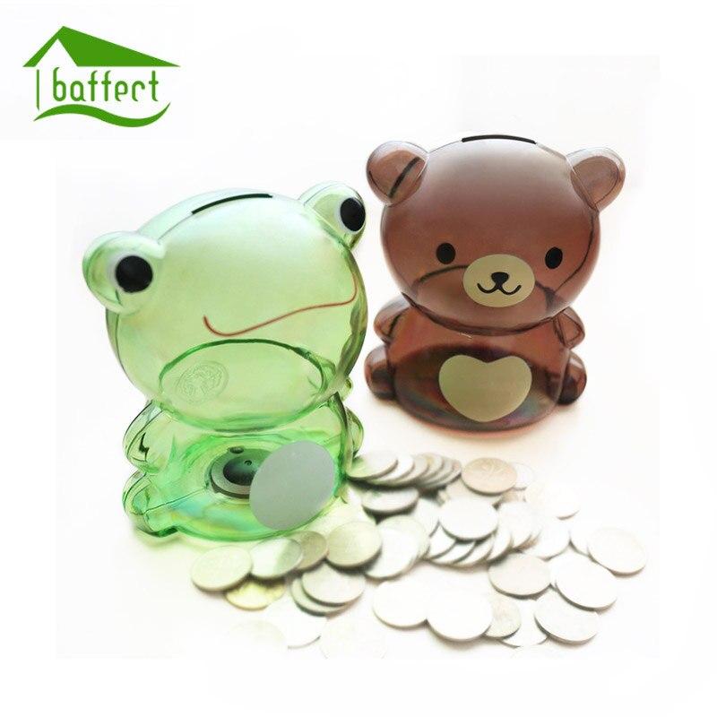 Permalink to Money Box Piggy Bank Small Bear Plastic Coin Bank Cartoon Modern Money Saving Box Decor Figurines Craft Gift For Kid Children