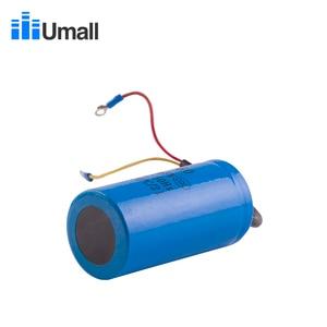 Image 3 - CD60 300uF 300V AC kondensator rozruchowy do ciężkich sprężarek elektrycznych powietrze silnikowe czerwony żółty dwa przewody