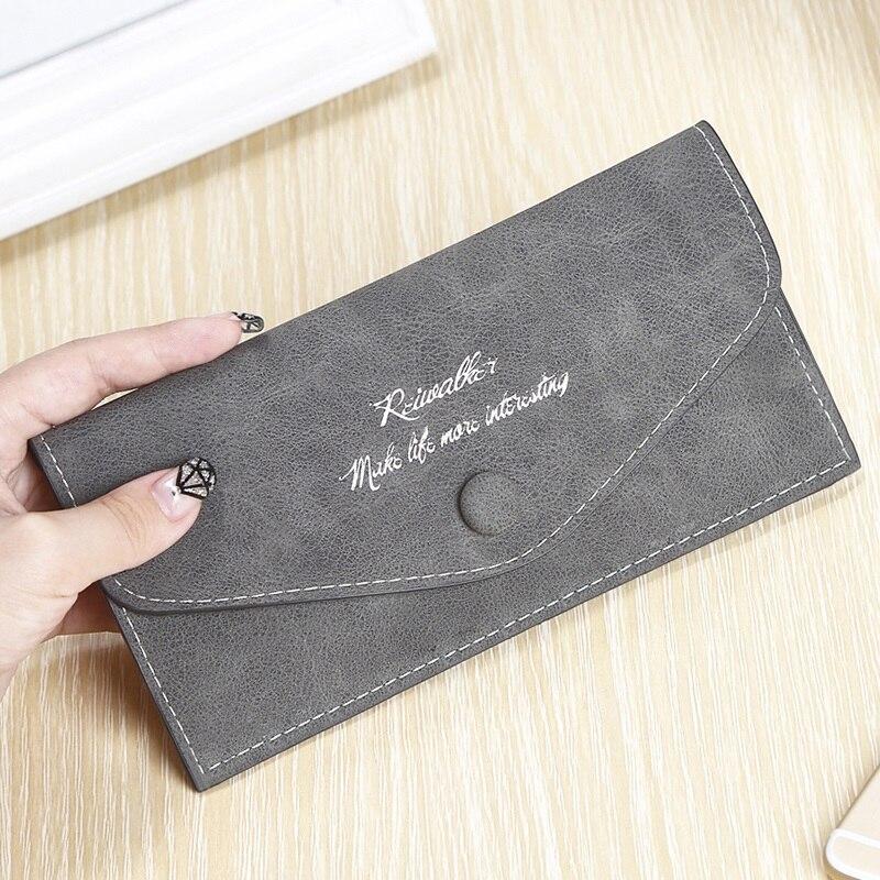2018 Nuove Donne DELL'UNITÀ di elaborazione Retro Busta Portafoglio Sottile di Alta Qualità Delle Ragazze Hasp Femminile Borsa Lunga Delle Signore Titolare della Carta piccola tasca per il telefono