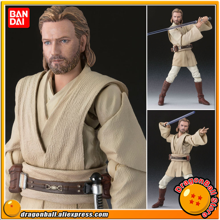 """<font><b>Star</b></font> <font><b>Wars</b></font>"" Original BANDAI Tamashii Nations S.H.Figuarts / SHF <font><b>Action</b></font> <font><b>Figure</b></font> - <font><b>Obi-Wan</b></font> <font><b>Kenobi</b></font> (ATTACK OF THE CLONES)"