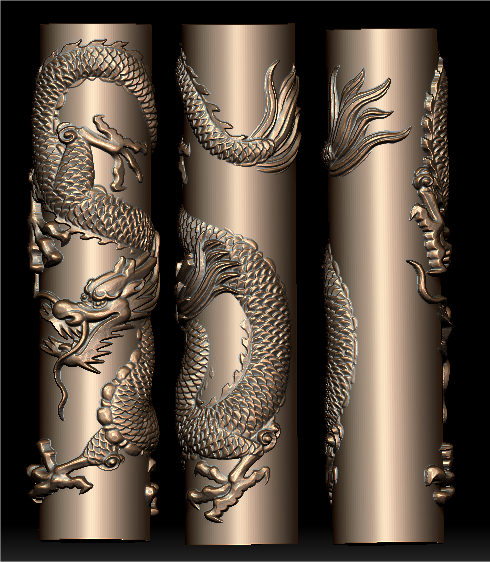 3D model for cnc 3D carved figure sculpture machine in STL file format The Chinese culture Dragon 39 huge china bronze carved beautifully whirlabout dragon sculpture statue