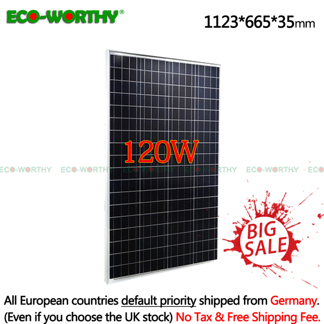 120W 18V Polycrystalline Solar power Panel for 12V solar battery charger home 18V 120W solar panel system no solar controller