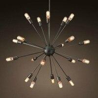 Северные новый RH лофт старинные подвеска лампы кантри промышленное освещение E27 светильник ресторан светильники 110 220 В