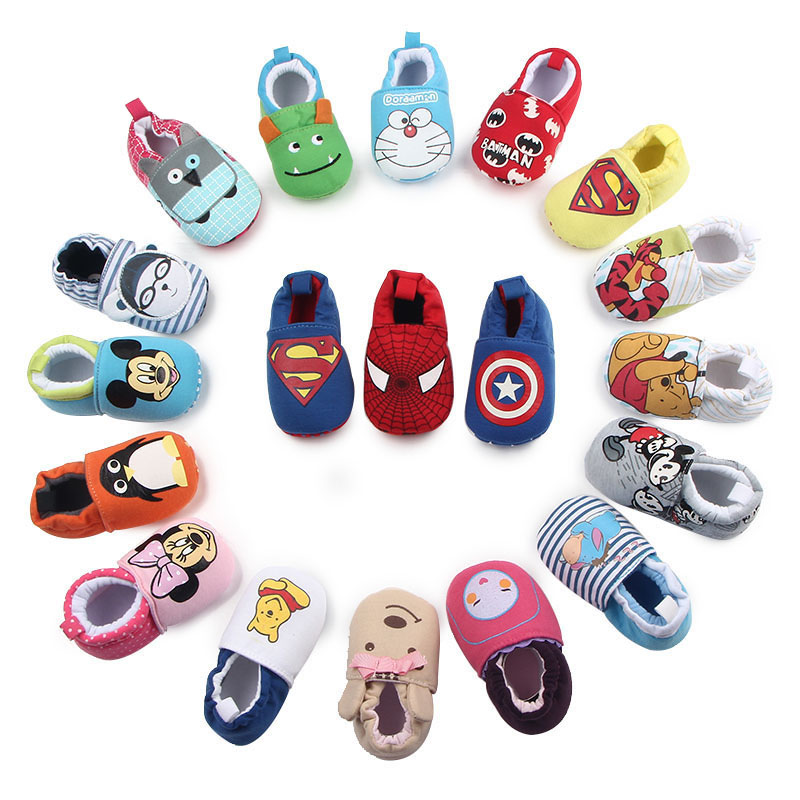 Brand New Toddler Newborn Baby Boys Girls Animal Crib Shoes Infant Cartoon Soft Sole Non-slip Cute Warm Animal Baby Shoes
