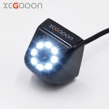 Xcgaoon CCD вид сзади автомобиля Камера Водонепроницаемый (IP67) Широкий формат 8 светодиодов Ночное видение автомобиля резервную Камера Парковочные системы