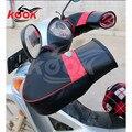 Высокое качество pro кожа перчатки плюшевые мотоцикл handguard сохранения тепла ветрозащитный теплая зима moto защита рук универсальный