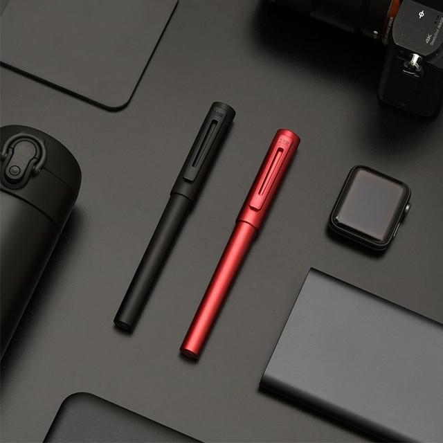 جديد وصول KACO معدن الألومنيوم الراقية اللوحة نافورة القلم مع صندوق حديد ، F بنك الاستثمار القومي 0.5 مللي متر حبر القلم هدية مجموعة للعمل مكتب