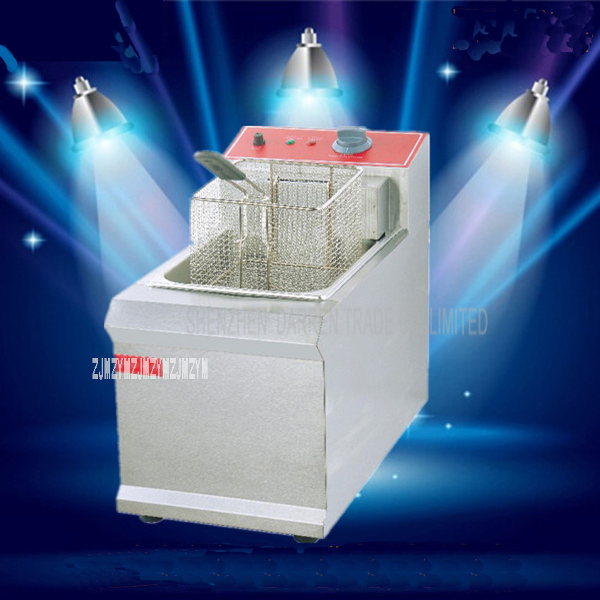 1PC  FY-901 Commercial  Single cylinder  Open Fryer Chicken Frying Equipment Commercial Deep Fryer1PC  FY-901 Commercial  Single cylinder  Open Fryer Chicken Frying Equipment Commercial Deep Fryer