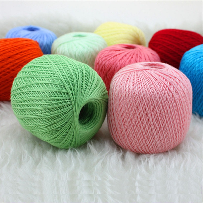 Cotton Yarn For Crochet Thin Lace Crochet Yarns For Hand knitting Yarn ...