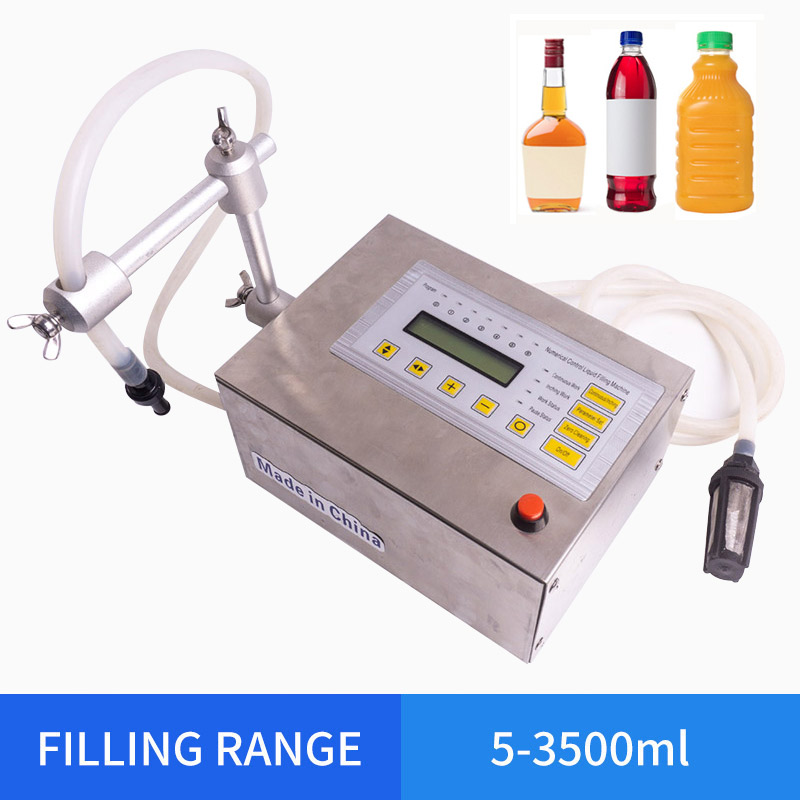 Accuracy Digital Liquid Filling Machine LED Perfume Drink Water Milk Filling Machine Bottle Vial Filler 5-3500ml