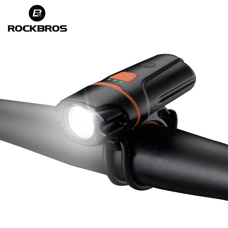 ROCKBROS MTB Bicycle Bike Light Front Handbar Waterproof Headlight USB Rechargeable Lamp Power Bank Flashlight Bike Accessories rockbros titanium ti pedal spindle axle quick release for brompton folding bike bicycle bike parts