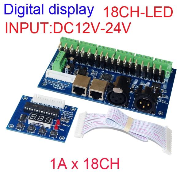 18-kanalni DMX512 RGB kontroler LED digitalni zaslon 6skupine RGB - Različiti rasvjetni pribor - Foto 1